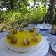 Höyhenenkevyttä sitruunakakkua kesämökillä