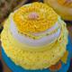 Kakku pienen työtn ensimmäiseen juhlaan.