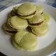 Vihreät macaron-leivokset