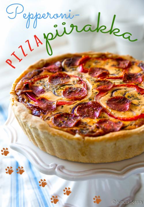 pepperoni pizzapiirakka